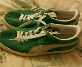 Green Puma Suede UK10