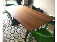 Dining Table - £70; Dining Chairs - £10 for the brown, £15 for the green