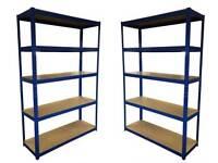 £55 HEAVY DUTY 174kg/shelf BLUE Storage shelves 180x120x40cm Metal Racking Garage delivery