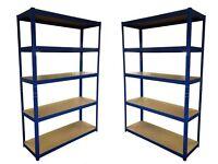 HEAVY DUTY 174kg/shelf BLUE Storage shelves 180cm x 120cm x 40cm Metal Racking Garage £50 delivery