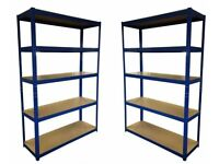 £55 HEAVY DUTY 174kg/shelf BLUE Storage shelves 180x120x40cm Metal Racking Garage delivery
