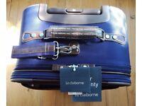 NEW Designer Suitcase LIZ CLAIBORNE 25 Expandable Rolling Upright Purple Case Luggage Bag Unisex