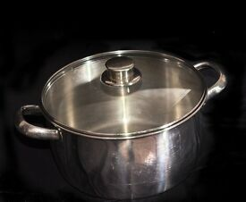 Meyer pan and stainless steel casserole with lids