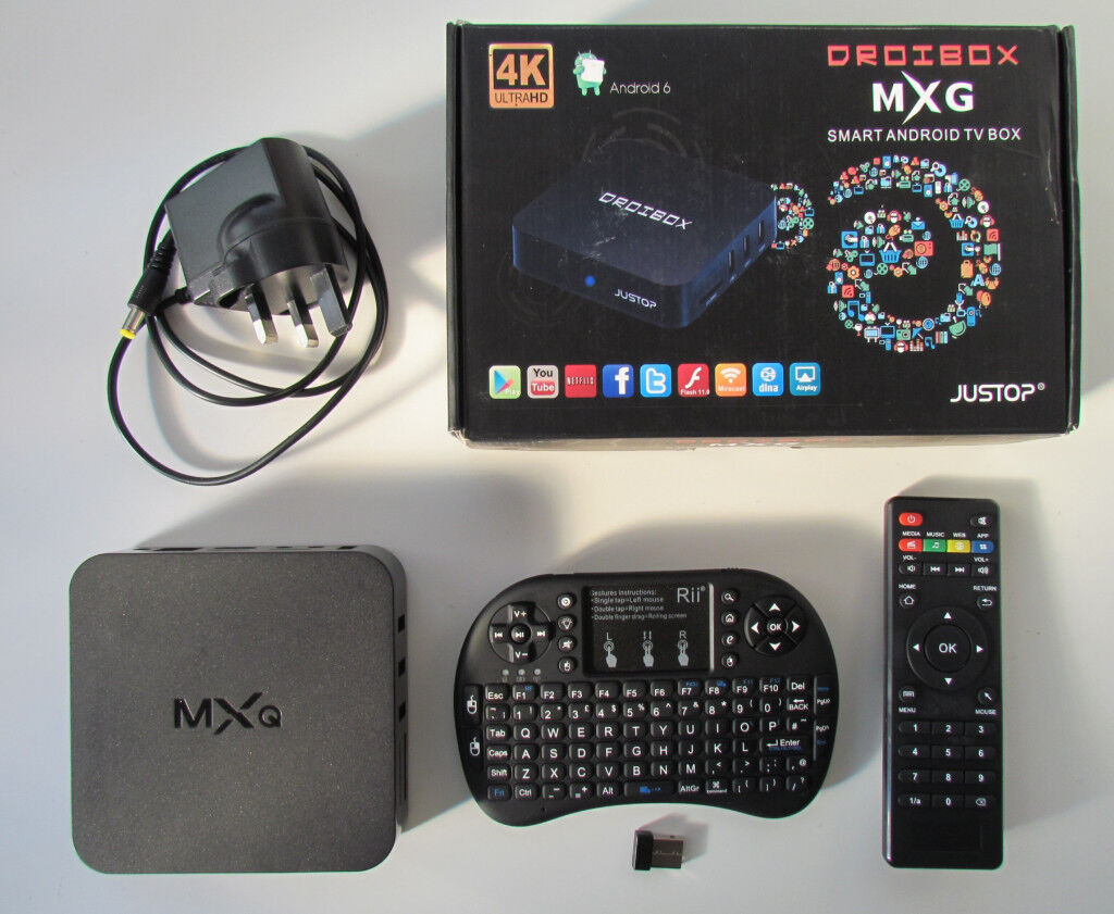 Android TV box + power supply + remote + Rii Mini i8 keyboard (faulty) | in  Chaddesden, Derbyshire | Gumtree