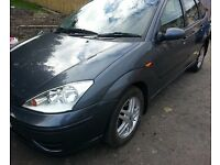 FORD FOCUS LX TDCI DIESEL CAR ..5DOOR.. HATCHBACK.GREY COLOUR.TOWBAR.GOOD ALLOY.1 YEAR MOT.RELIABLE