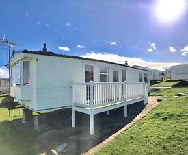 STATIC CARAVAN WITH DECKING !! HEATED ! SEA VIEW PITCH , 12 MONTH PARK ,NORTH EAST COAST ,HARTLEPOOL