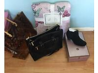 Joblot Mixed Brands of clothes bag shoes Genuine Louis Vuitton handbag Zara bag