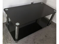HYGENA MATRIX COFFEE GLASS TABLE IN BLACK