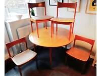 CAN DELIVER Vintage mid century teak table and chairs