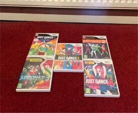 5x Just Dance Games for Nintendo Wii