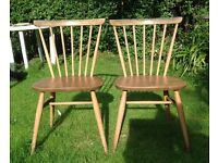 Vintage/Retro Ercol Windsor Swept Back Chairs Model 737