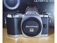Olympus OM-D E-M10 16MP with Olympus 14-42mm lens, boxed, excellent condition