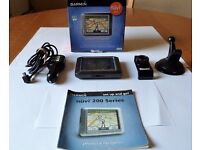 "GARMIN NUVI 250 CAR SAT NAV GPS 3.5""Touchscreen with UK, ROI & EUROPEAN MAPS In Good Working Order"