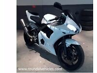 """NOW REDUCED !! STUNNING """"ONE OFF"""" 05 Yamaha R6 ( Portuguese Bike ) NEVER SEEN THE RAIN, Pearl white"""