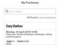 Gary Barlow concert tckts, Edinburgh Playhouse, 16 April 18