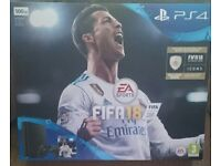 Playstation 4, 500GB With FIFA 18 (**BRAND NEW IN BOX**)