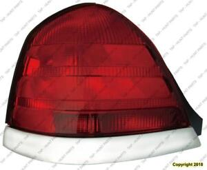 Tail Lamp Driver Side (Chrome Moulding-2 Bulb-Red) High Quality Ford Crown Victoria 1998-2005
