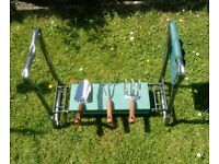 Garden Kneeler, Seat and Tool Set. New. Free delivery. Warranty included. Strong frame.