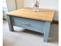 ** Large Solid Oak Coffee Table With Drawer ** £100 ***