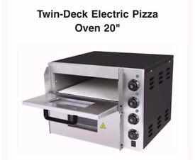 Pizza Oven 20 Electric Twin-Deck