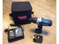 Makita DTW450 Cordless Impact Wrench with battery&charger in Black Cube Bag- excellent condition