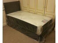 ***New*** Single 3' Divan Bed with Memory Foam Mattress & Headboard