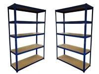 HEAVY DUTY 174kg/shelf BLUE Storage shelves 180cm x 120cm x 40cm Metal Racking Garage £48 delivery