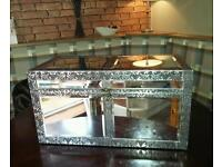 Vintage style embossed mirrored box/trunk
