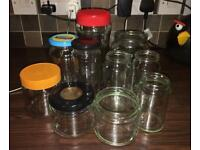 Free 10 clean jars(half with lids half without)