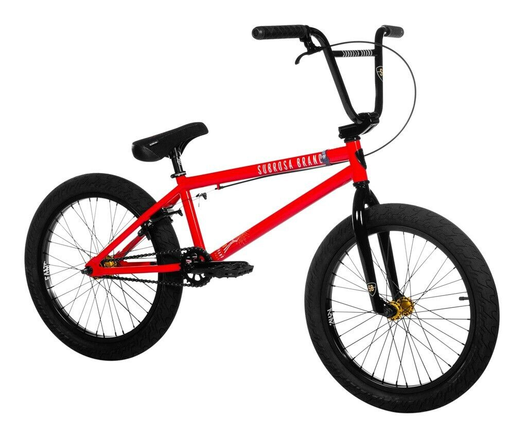 """2020 SUBROSA SONO COMPLETE 20"""" BMX BIKE BICYCLE SHADOW RANT GLOSS LIGHT RED NEW"""