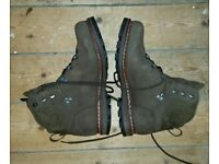 Hanwag Horndl leather boots, men's, UK 11.5, brown, as new
