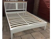 House Of Fraser, King Size Bed Frame, Oak / Painted.