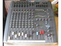 SOUNDCRAFT SPIRIT POWERSTATION 350 PA desk powered mixer amp + FX. High Quality Professional