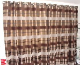 Pair of quality fully lined curtains at a bargain price