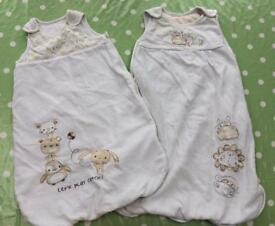 2x 0-6 month baby sleeping bags