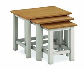 New grey & oak nest of tables Fully built, In Stock Now