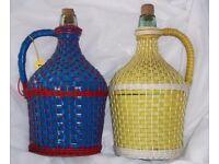 Vintage 1950's Italian Wine Decanters