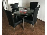 Dining table & chairs with two x side tables & Coffee table