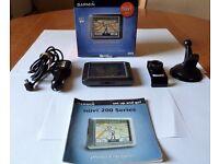 "GARMIN NUVI 250 CAR SAT NAV GPS 3.5""Touchscreen with UK, ROI & EUROPEAN MAPS In Good Working Order"