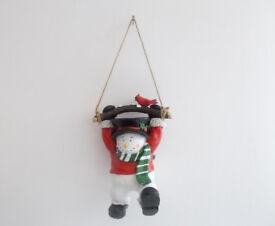 Snowman Hanging Brd Feeder