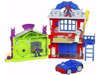 Playskool Heroes Marvel Adventures - Spider-Man Crime Fightin' Headquarters + 4 Figures