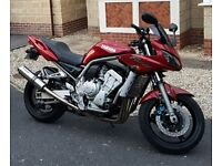 Yamaha FZ1000 Fazer 1000 Motorcycle, 2003 (52), Cherry Red, 12 Months MOT, good condition