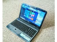 ACER ASPIRE 5740 LAPTOP ,i3 PROCESSOR 2.13GHz,3GB RAM,320GB HDD,WINDOWS 10 ,MS OFFICE, CHARGER