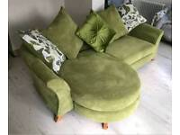 Beautiful DFS sofa set with chaise & 2 seater cuddle sofa as New