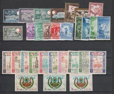 Boy Scouts MNH 2 Pages, Sets Sheets Incl. Turkey, Saudi CV $100.90