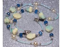 NEW gorgeous, beaded & pearls, spectacle's, glasses holder chain - ideal Christmas gift.