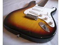 Fender Squier (Squire) Stratocaster in Sunburst - Perfect Mint Condition
