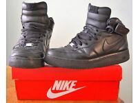 Nike Air Force 1 Mid Black Leather - UK Size 9