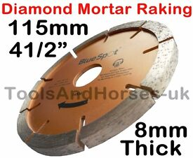 "NEW - 4 1/2"" 115mm Mortar Raking Disc Diamond Angle Grinder Mortar Raking Disc 4.5"""