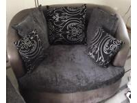 Swivel chair , sofa and puff for sale